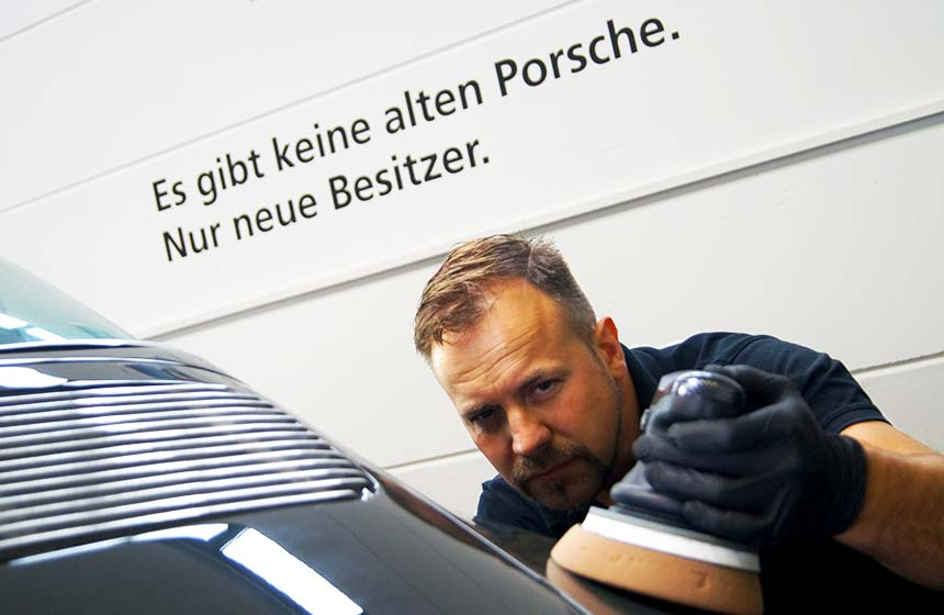 Politur eines Klassikers - Autopflege und Fahrzeugveredelung